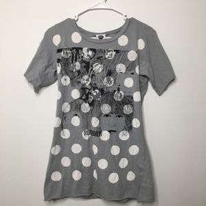 The Beatles Polka Dot T Shirt LARGE Junior